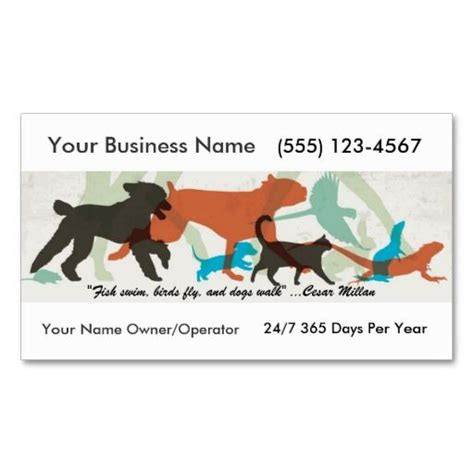17 Best Images About Business Cards Pet Sitter On Pinterest Trainers Business Card Templates Free Walking Business Card Template