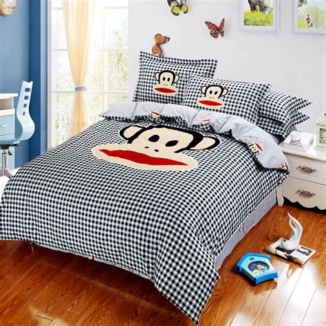 cartoon monkey bedding set luxury sanding cotton