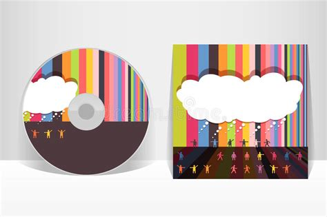 layout cd vector cd cover design template stock vector illustration of