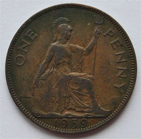 penny 1 ebay 1939 uk great britain 1 penny coin nice vf condition ebay
