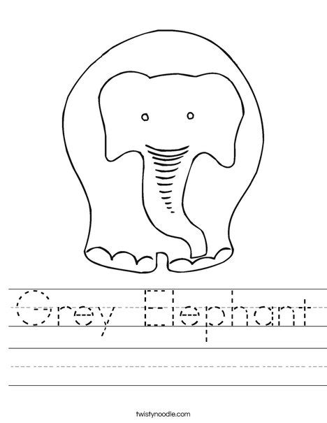 grey elephant coloring pages grey elephant worksheet twisty noodle