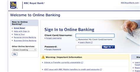 royal bank of canada login rbc login rbc canada banking