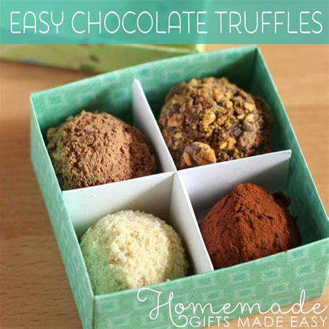 Handmade Truffles Recipe - easter gift ideas