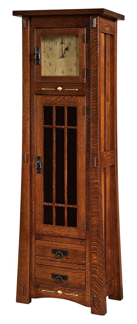 Dining Room Furniture Indianapolis Amish Made Grandfather Clock