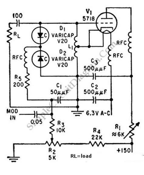 varactor diode harmonic generator 100mhz varicap oscillator simple circuit diagram