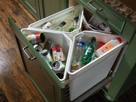 Kitchen Recycling Bins For Cabinets 4 Bin Recycling Center Traditional Kitchen Other Metro By Wood Mode Custom Cabinetry