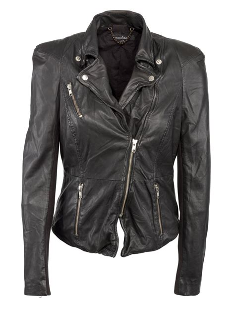 biker jacket cion 2012 fitted leather biker jacket in black
