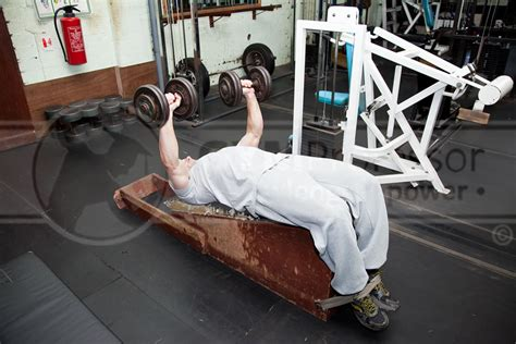bench start dumbell decline bench press
