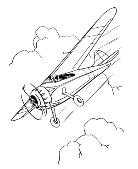 free coloring pages of airplane printable