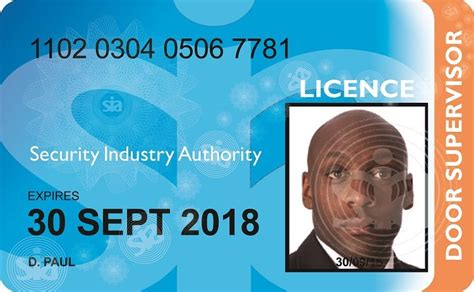 Renew Sia Door Supervisor Licence by New Sia Badge Licence Design Bridgegate Security