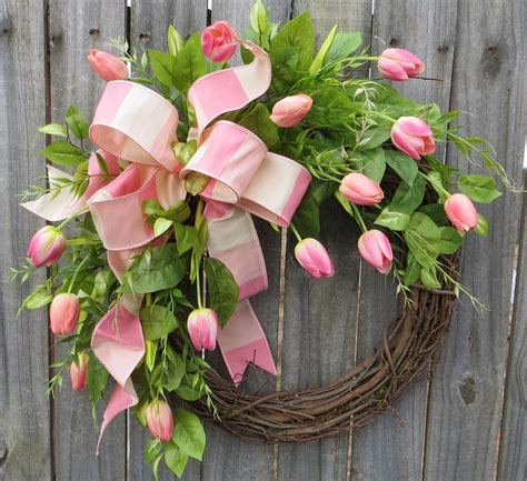 spring wreaths for door spring wreath wreath spring spring tulip wreath by