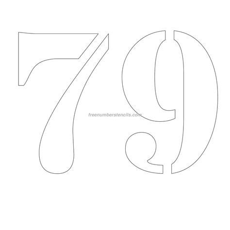 printable 12 inch number stencils free 12 inch 79 number stencil freenumberstencils com