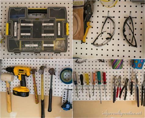 Peg Board Garage by Garage Organization Diy Workshop Infarrantly Creative