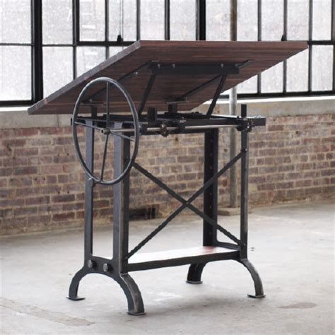 Drafting Table Standing Desk by Cos Iron Works Modern Iron Industrial Desks Standup