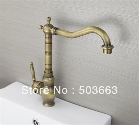 antique brass kitchen faucet classic 1 handle antique brass finish kitchen sink swivel