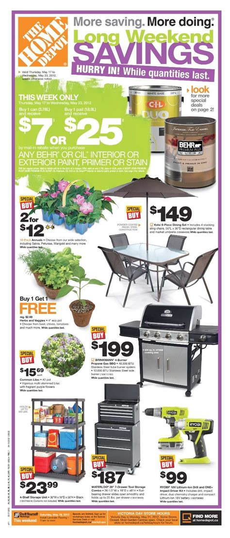home depot weekly ad circular sales flyer the