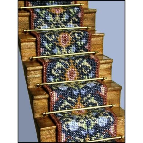 dolls house stair carpet janet granger designs may blue dolls house needlepoint stair carpet kit