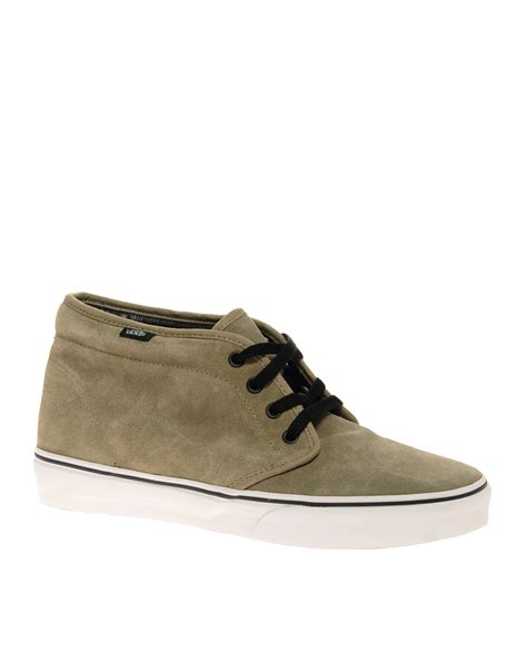 vans suede chukka boots in brown for lyst