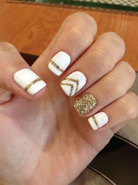 Manicure Di Nail Plus 12 alluring white plus gold nail designs