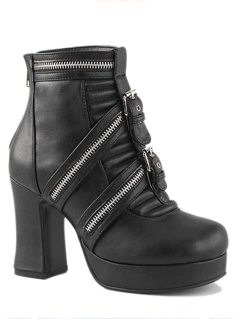 Vegan Shoes And Boots By Pennangalan Dreams by S Quot Gothika Quot Vegan Ankle Boots By Demonia Black