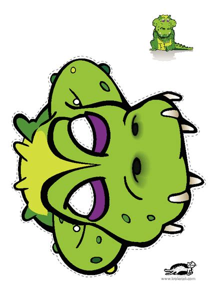 printable alligator mask krokotak print printables for kids