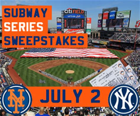 Subway Sweepstakes - mets subway series sweepstakes new york mets