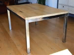 table industrielle fer et bois meubles et