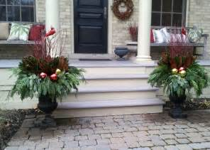 Traditional Vases Winter Containers Traditional Exterior Toronto By