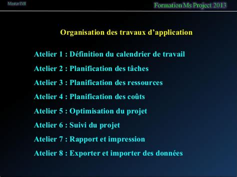 exercice d application diagramme de gantt formation msproject pro 2013