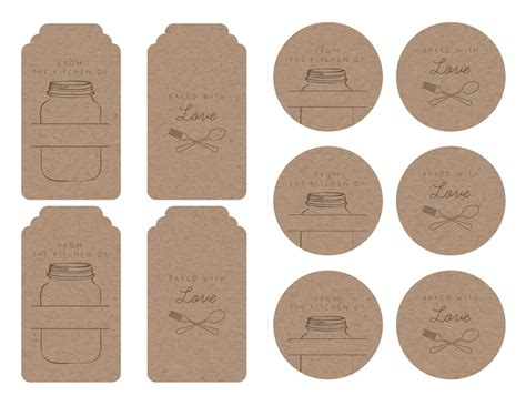Baking Labels Template