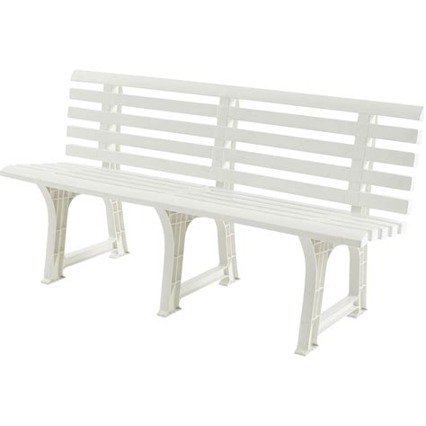 banc de musculation pliable metal for crafts banc 3 places de jardin en r 233 sine plastique isotta blanc