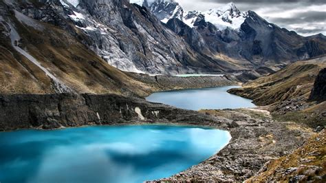 peru mountains lake cordillera huayhuash nature