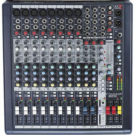 Mixer Audio Soundcraft soundcraft mfxi 8 mixer musician s friend