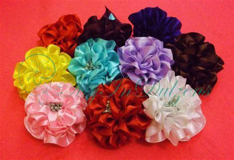 Handmade Ribbon Flower - bloom satin ribbon flower myindulzens handmade