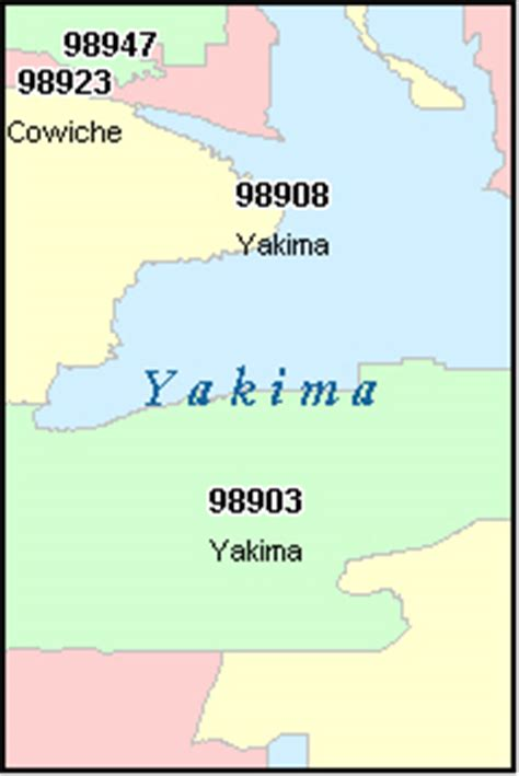 zip code map yakima county yakima county washington digital zip code map