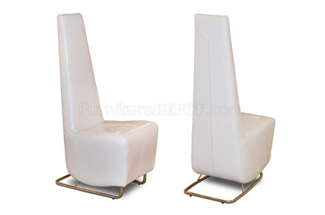 white patterned dining chairs white crocodile patterned vinyl set of 2 tall dining side