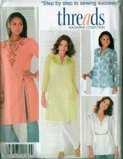 kurta pattern sewing oop indian kurta caftan tunic 2 lengths simplicity sewing
