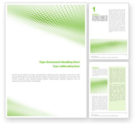 name template green grid word template 01585 poweredtemplate