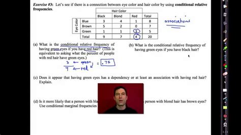 two way frequency table worksheet answers common algebra i unit 10 lesson 5 two way frequency tables by emathinstruction