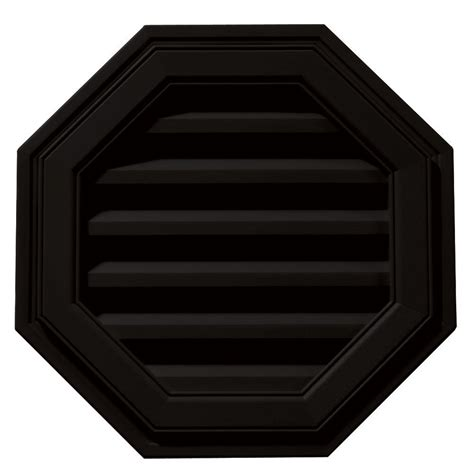 air vent 18 in dia electric gable vent fan builders edge 18 in octagon gable vent in black