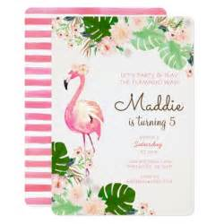 flamingo birthday invitation zazzle