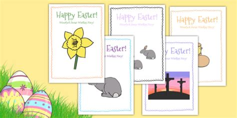 easter card templates twinkl easter card templates translation design