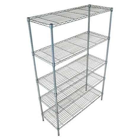 room essentials 5 tier wide wire shelving chrome target