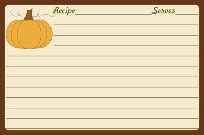 pumpkin recipe cards templates free parraclan designs thanksgiving clip recipe cards