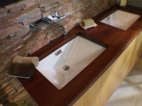 how to install a bathroom countertop and undermount sinks