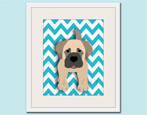 dog wall art dog art print chevron baby nursery art for children by