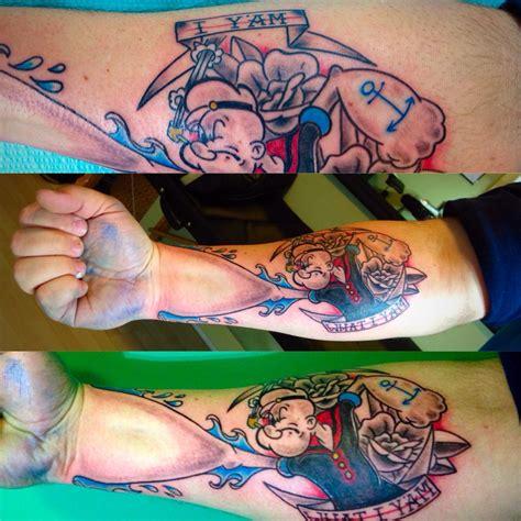 popeye forearm tattoo popeye forearm kdevil southpawartist