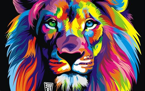 wallpaper abstract lion color lion abstract wallpaper free download gamefree