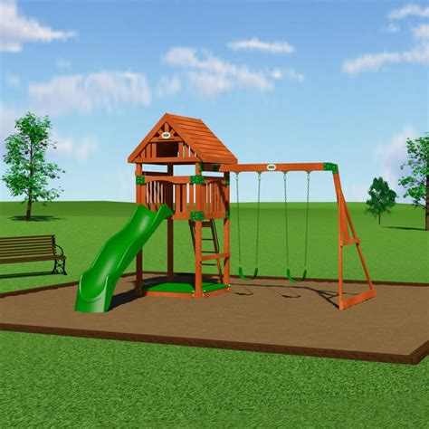 wayfair swing sets backyard discovery trek cedar all cedar swing set