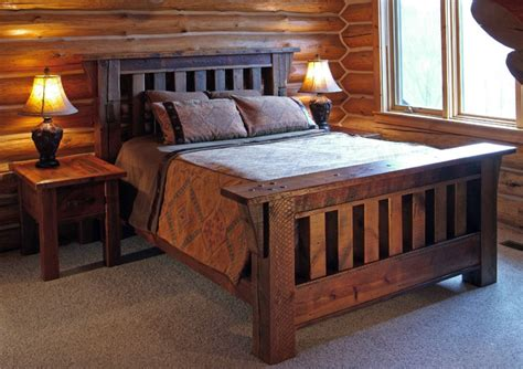 Handcrafted Wood Bedroom Furniture - reclaimed barnwood handcrafted furniture eclectic